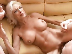 Hot Mature Blonde Cougar Jordan Threeway