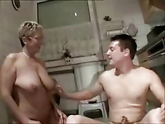 Cuckold. Pervert wife with younger boy. Home made