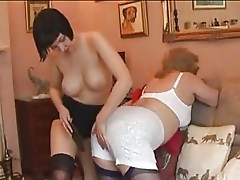 Bossy Mature Lady and Young Maid Switch