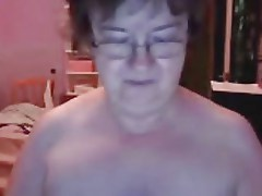 67 Year Old Granny Strips on Webcam