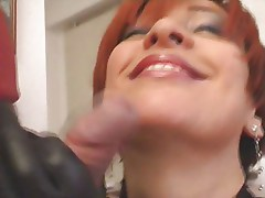 cock rubbing on face