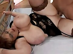 Two huge mature ladys for one young guy