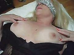 Sexy Lace Blinfolded Cum Slut For Stranger