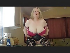 Huge-Titted Brit Mom Loves Her Holiday Home