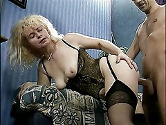German Mature cougar loves ass fucking and licking balls (TheNylonChannel)