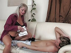 Hot Euro Blonde Cougar Pantyhose Sex
