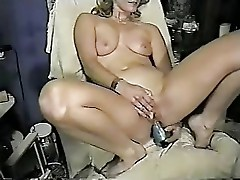 Wife masturbating both holes