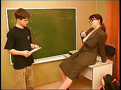 Russian mature teacher  and  young stud