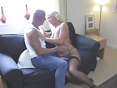 Hot Busty Blonde Cougar Pleasing Orally