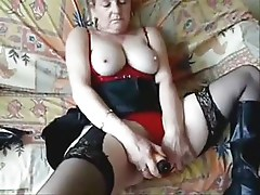Great masturbation of my mature bitch