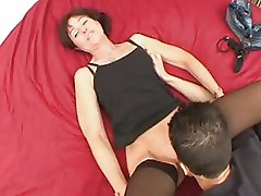 Analsex for Brigitte, mature in stockings