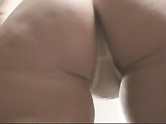 Hot ass shaking in a white thong