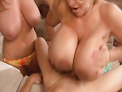 Hot Huge-Titted Cougar Threesome