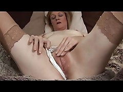 Little Titties Mature Milf in Stockings Fingers and Toys