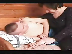 Mother suck son's cock while he sleep