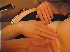 mature wife fingering her freshly shaved pussy