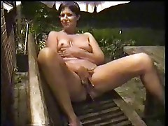 Watch my wife masturbating in court yard. Home made