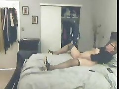 Lucky bad son caught his mom masturbating
