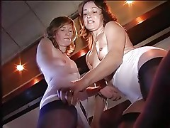 Lingerie Ladies in the Pub in Girdles and Stockings