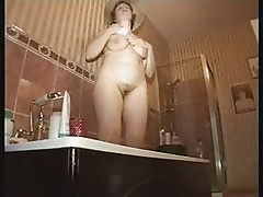 Lingerie Lady in the Bath