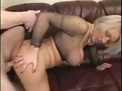 Mom With Huge Tits in Fishnet - (mature hot milf)