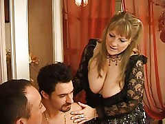 Super hot older french woman get fucked by 2 guys