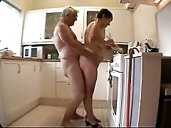 Great. See this old couple having fun in the kitchen
