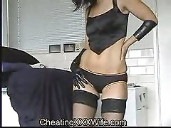 Sexy wife fisting her own pussy