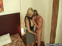 Young guy fuck granny whore