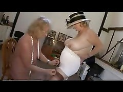 Lingerie Grannies Fingering in girdles again