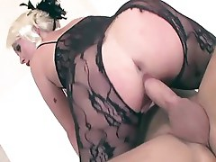 Lace body stocking sex