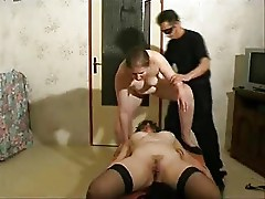 My sub wife has pussy licked by a sub lady