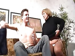 German Older Mom Fucking On The Couch
