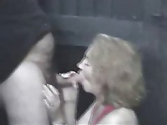 MILF SLag Blows Me in a Pub Alley