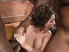 White woman becomes a slut for black cocks - Interracial DP