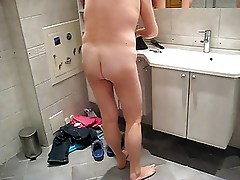 Wife taking shower